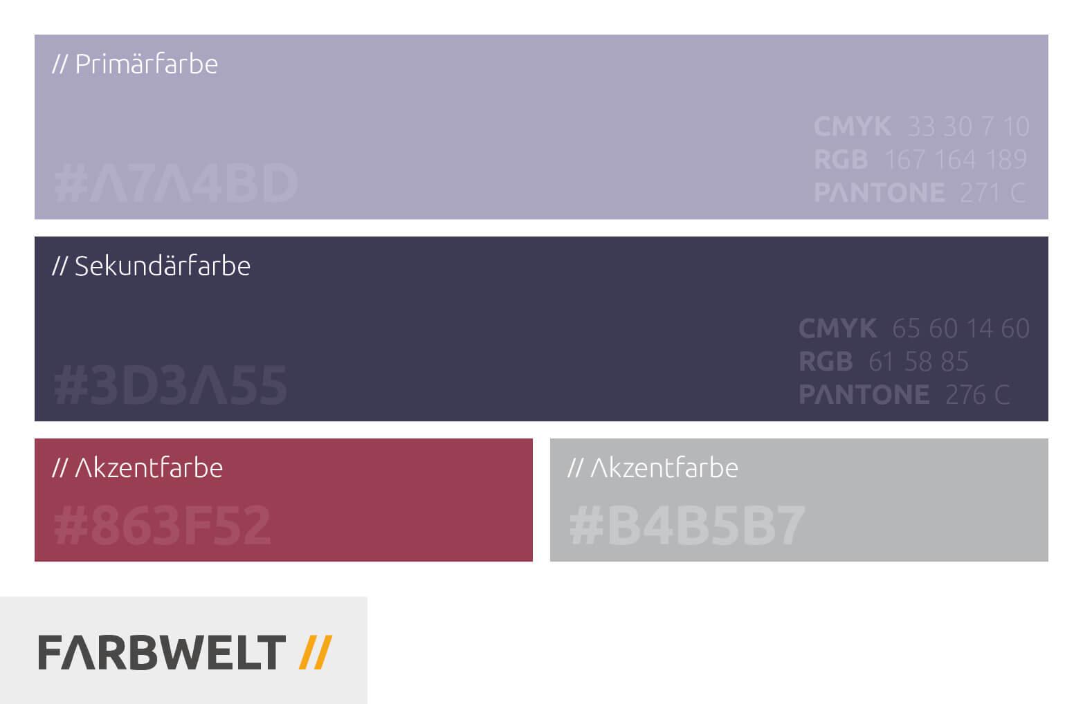 Farbwelt // Marken Relaunch von Schlafstil der Medienagentur aus Würzburg // BRANDORT markenschmiede