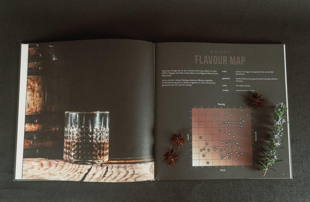 EDEKA Premium Spirituosen Katalog Detailaufnahme Whisky Flavour Map