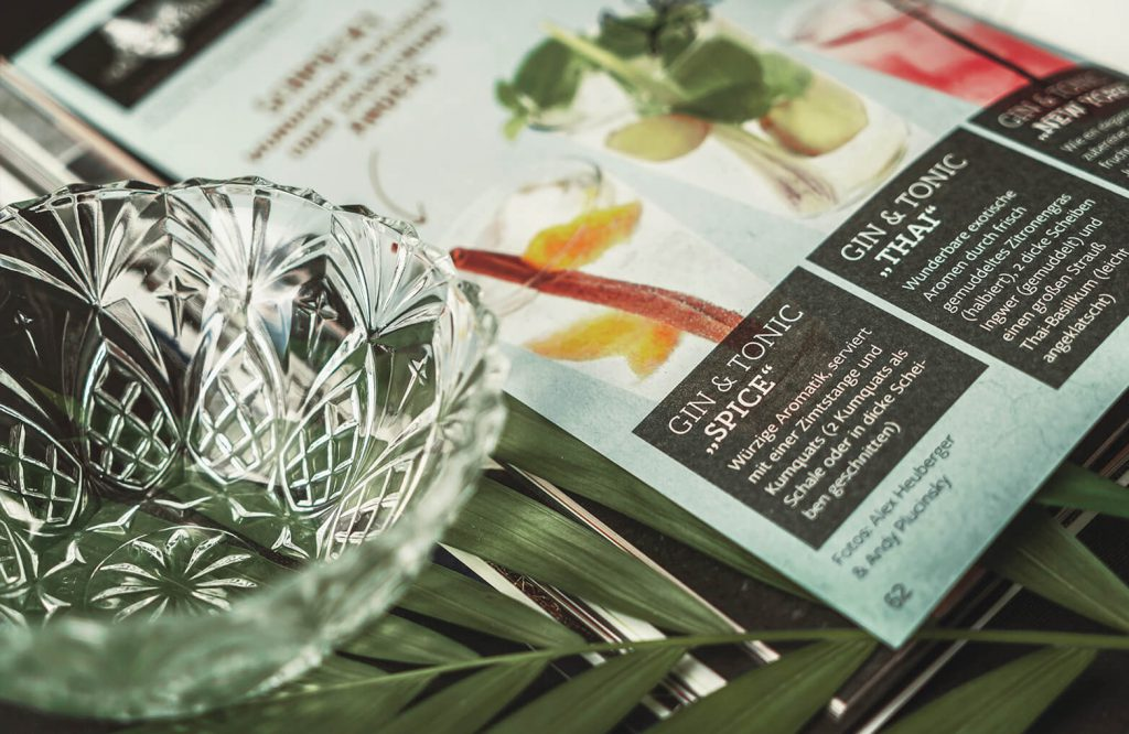 EDEKA Spezialitäten Katalog Detailaufnahme Doppelseite Gin