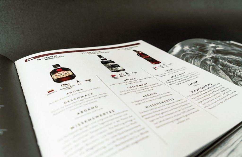 EDEKA Premium Spirituosen Katalog Detailaufnahme Rum-Seite