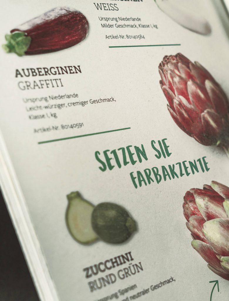 EDEKA Spezialitäten Katalog Detailaufnahme Doppelseite Gemüse