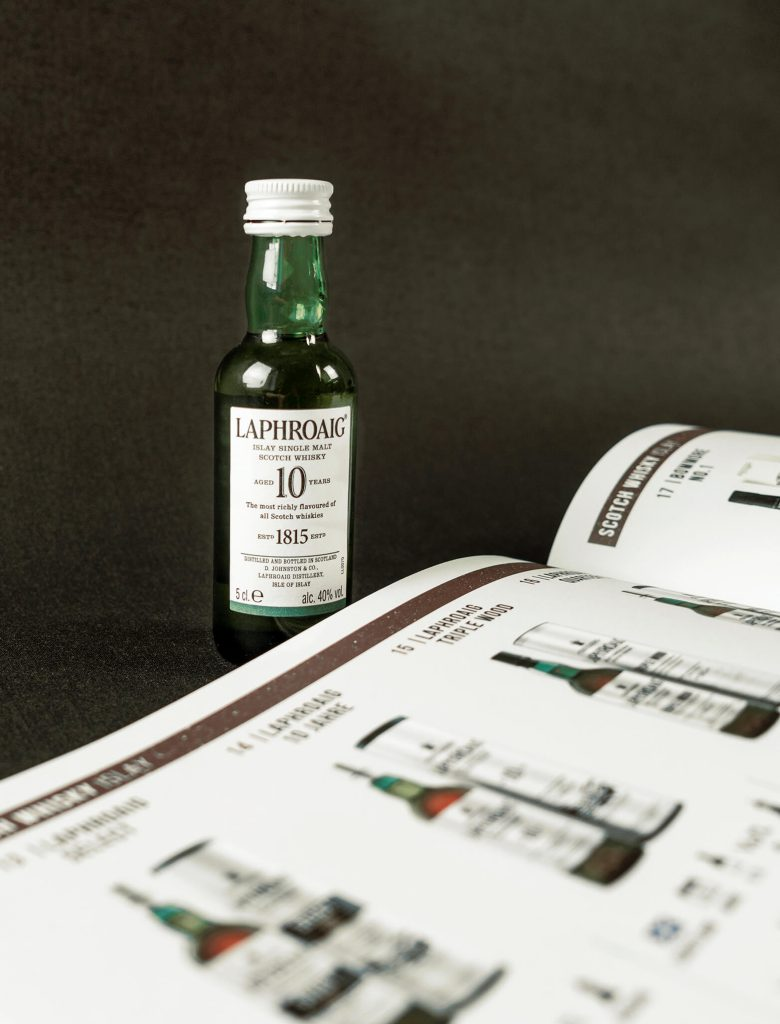 EDEKA Premium Spirituosen Katalog Detailaufnahme Doppelseite Whisky